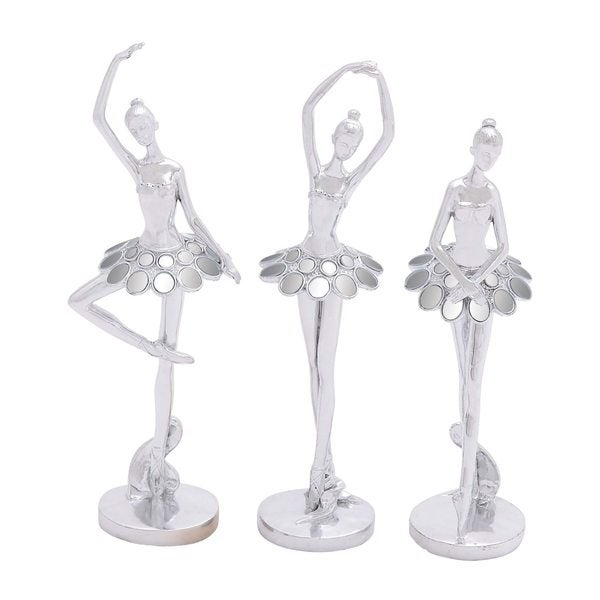 Silver Polystone Dancer (Pack of 3) 24202144