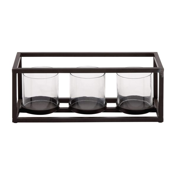 Metal and Glass Votive Holder 24203292