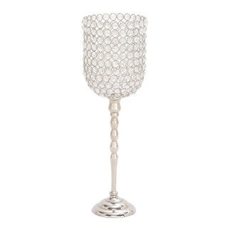 Silver Orchid Taylor Aluminum and Crystal Candleholder