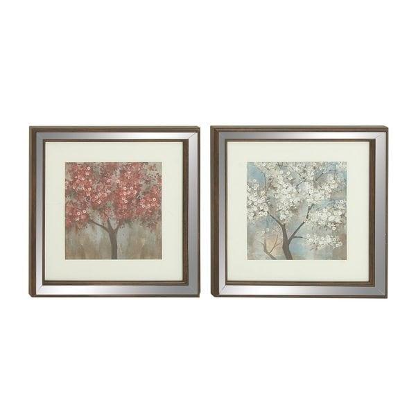 Polystone Mirror Framed Nature-themed Art (Set of 2) 24203316