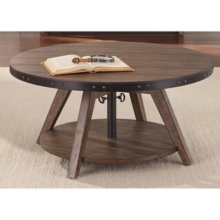Aspen Skies Weathered Brown and Grey Hang Motion Cocktail Table