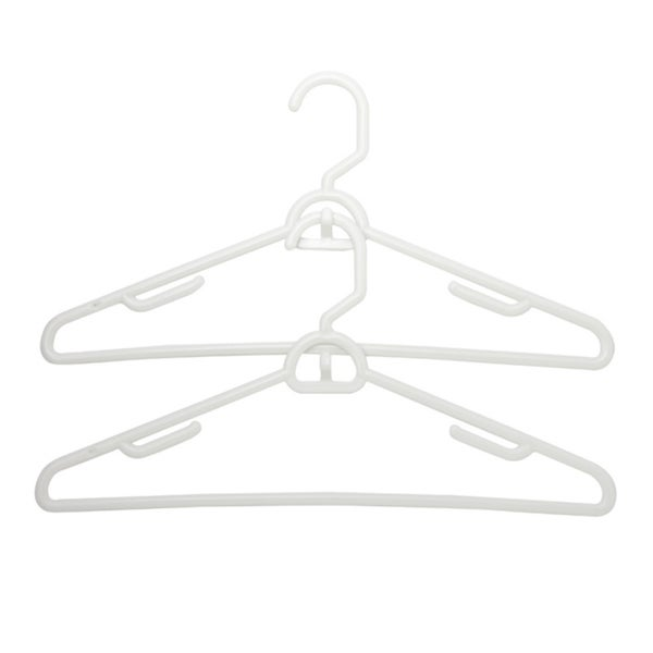 Homz White Plastic Attachable Suit Hangers (Set of 6) 24247749