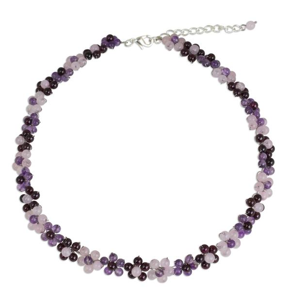 Handmade Multi-Gemstone Choker, 'Gemstone Garden' (Thailand) 24248548