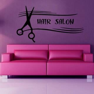 Hair Salon Wall Decals Wall Words Beauty Salon Scissors Vinyl Sticker Home Decor Art Wall Sticker De 24276690