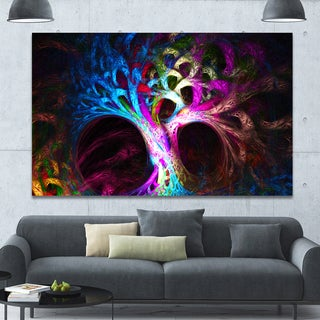 Designart 'Magical Multi-color Psychedelic Tree'Extra Large Abstract Canvas Art Print