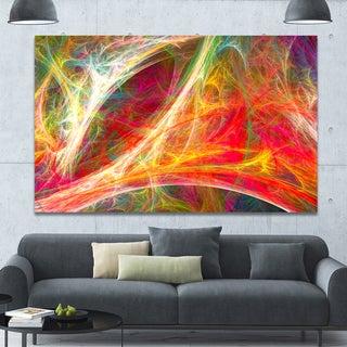Designart 'Mystic Red Fractal Wallpaper' Abstract Wall Art Canvas