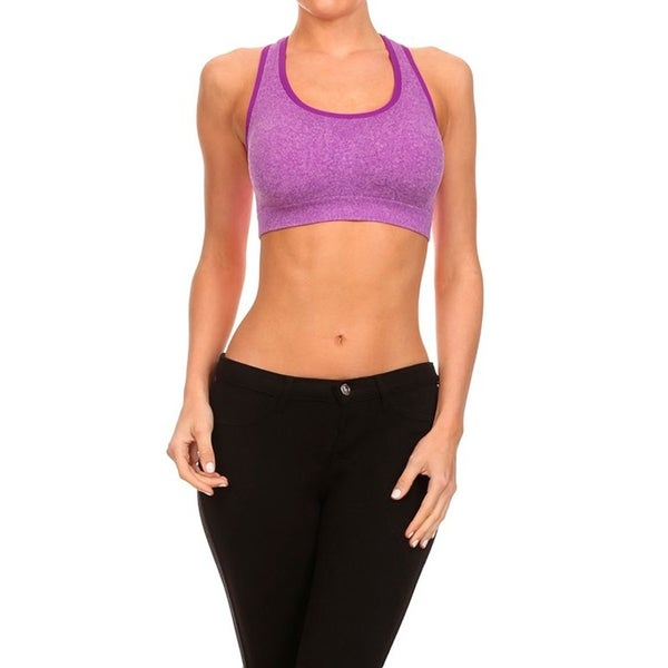 STY605 Purple Active Sports Bra for Workout and Yoga 24293569