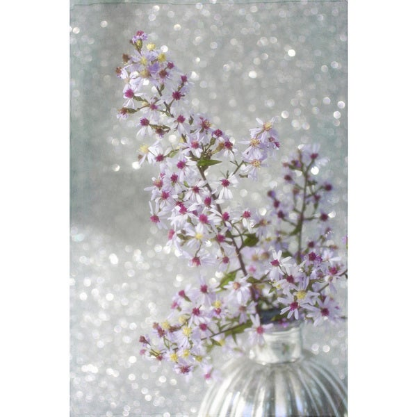 'Sparkling Asters' Painting Print on Wrapped Canvas - Pink 24313763