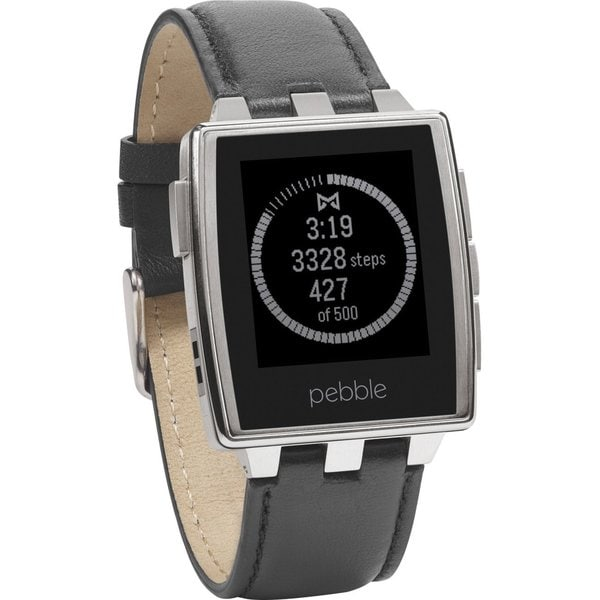 Pebble Steel 401SLR Smartwatch (Brushed Stainless)