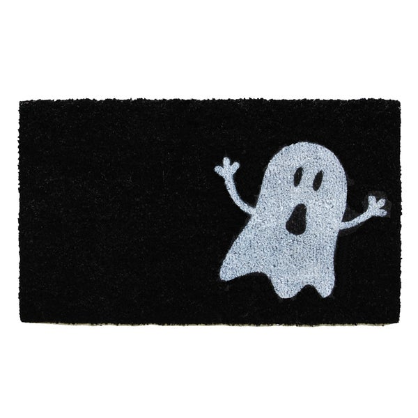 Black/White Ghost Doormat 24344277