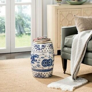 Safavieh Dragon's Breath Chinoiserie Blue Ceramic Decorative Garden Stool