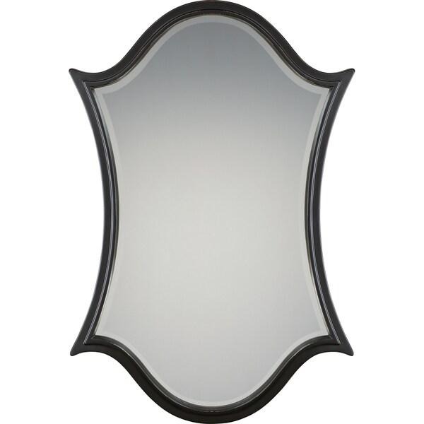 Quoizel Vanderbilt Bronze Resin and Glass Large Mirror 24346719