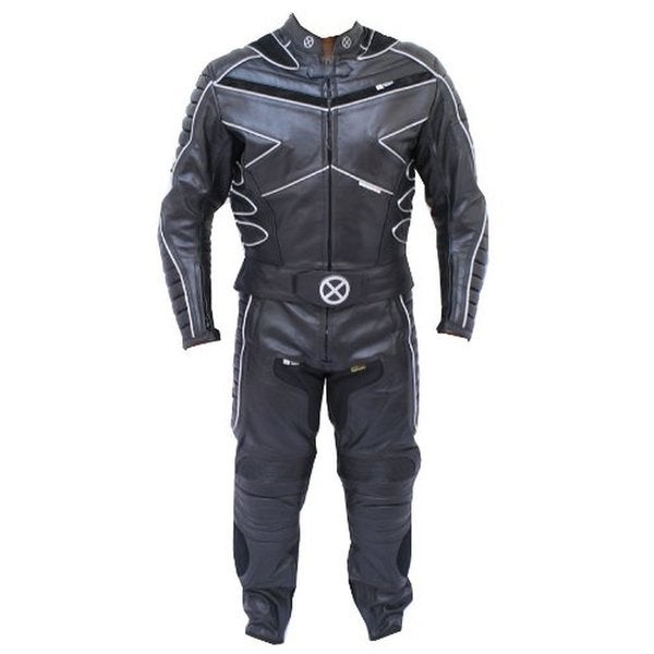 2pc X-MEN Motorcycle leather Racing Riding Track Suit CE Armor New w/ Padding 24348602