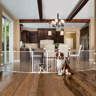 Carlson 2-in-1 White Super Pet Gate and Pet Yard