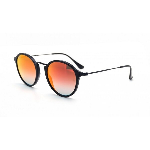 Ray-Ban RB2447 901/4W Round Fleck Unisex Black Frame Orange Gradient Flash Lens Sunglasses 24363758