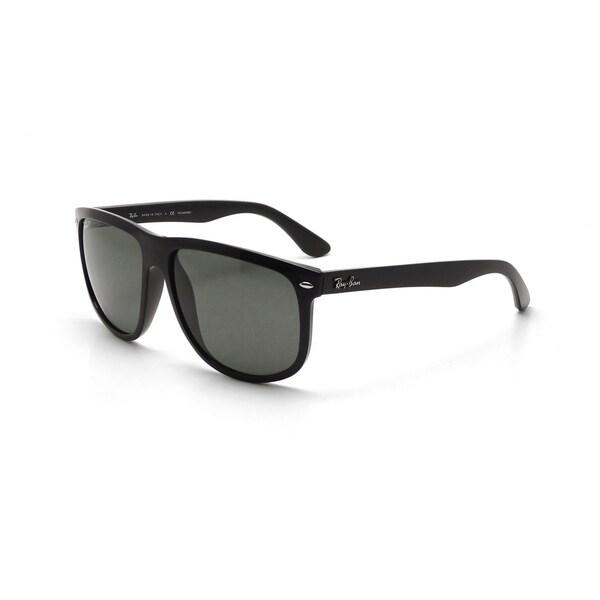 Ray-Ban Men's RB4147 601/58 60 Square Plastic Black Green Sunglasses 24363918