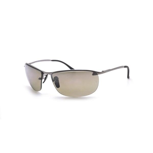Ray-Ban Men's RB3542 029/5J 63 Rectangle Metal Plastic Gunmetal Grey Sunglasses 24364015