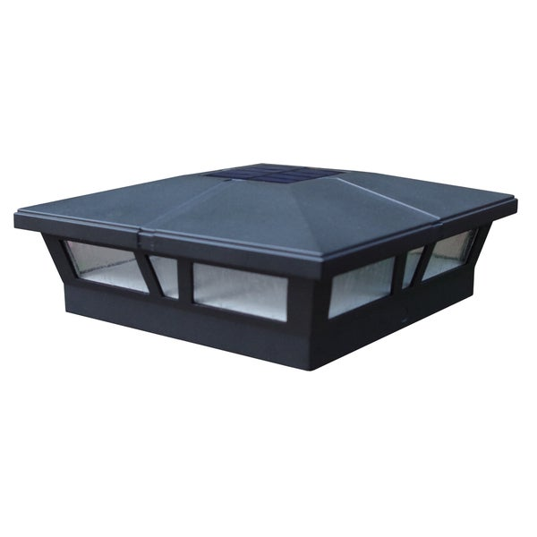 Cambridge Black Aluminum Solar Post Cap (2 pack) 24365591