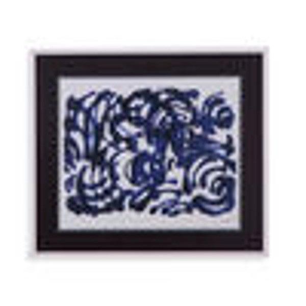"""""""Indigo Swirls II"""" Framed wall Art 24365638"""