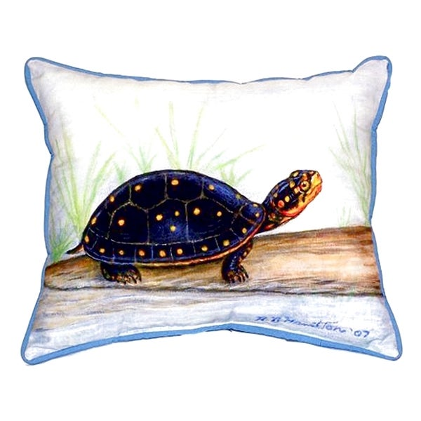 Spotted Turtle Small Indoor/ Outdoor Throw Pillow 24368981