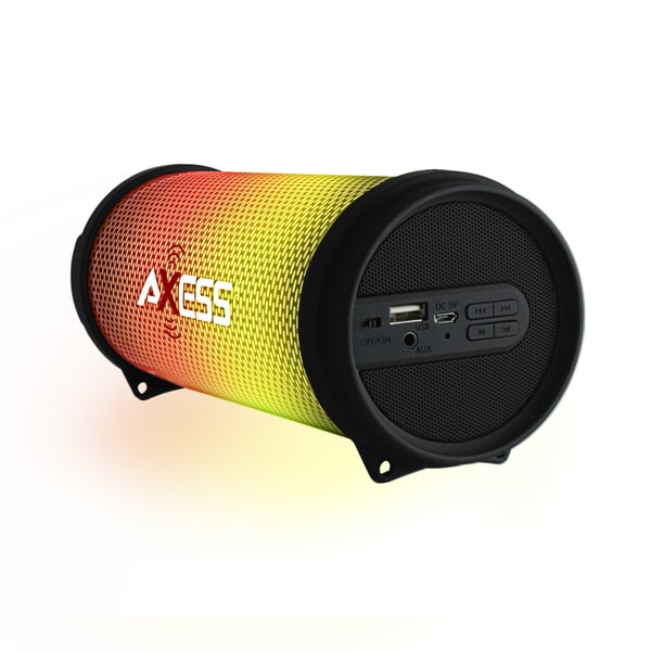 Axess Black Dancing LED Lights HiFi Bluetooth Rechargeable Speaker 24397199