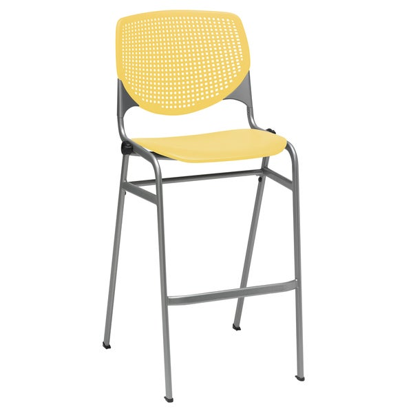 KFI KOOL Stacking Barstool, Yellow 24398191