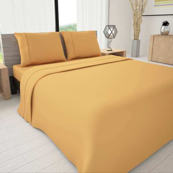 Colors of Life 3-piece Sheet Set with Piping Accent 24399613