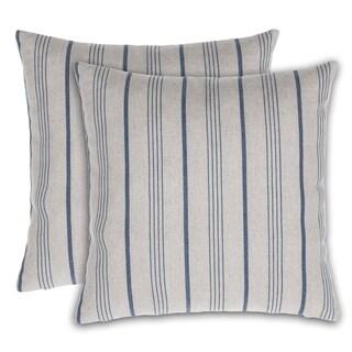 Burlap Stripe Throw Pillow Cover (Set of 2)