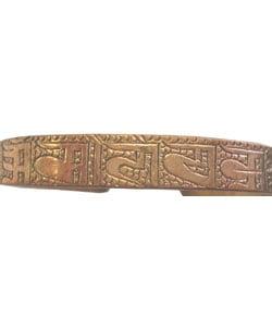 Copper Buddhist Bracelet (Nepal)