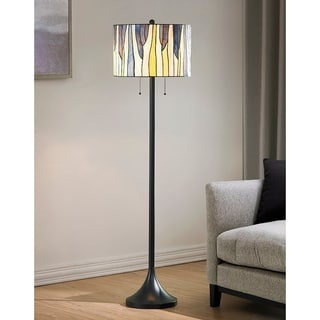Barossa Tiffany Multi-colored Art Glass/ Metal Floor Lamp