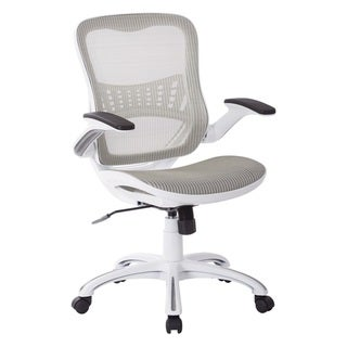 OSP Riley Office Chair with White Mesh Seat and Back