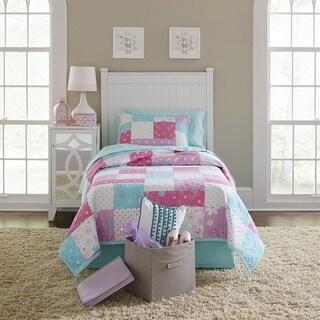 Lullaby Bedding Butterfly Garden 100% Cotton Printed 3-piece Quilt Set