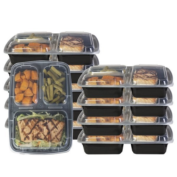 Heim Concept 3 Compartment Premium Meal Prep Food Containers with Lids (Set of 10) 24417780