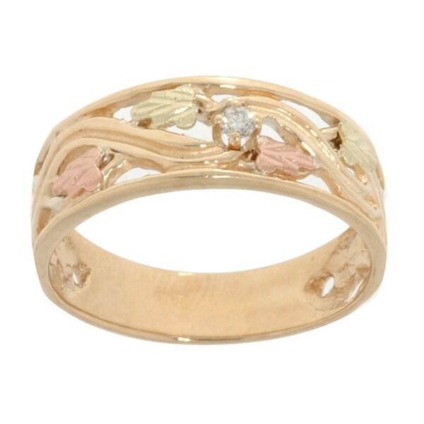 Black Hills Gold Diamond Ring