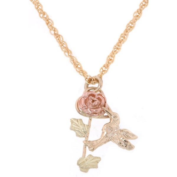 Black Hills Gold Hummingbird Pendant