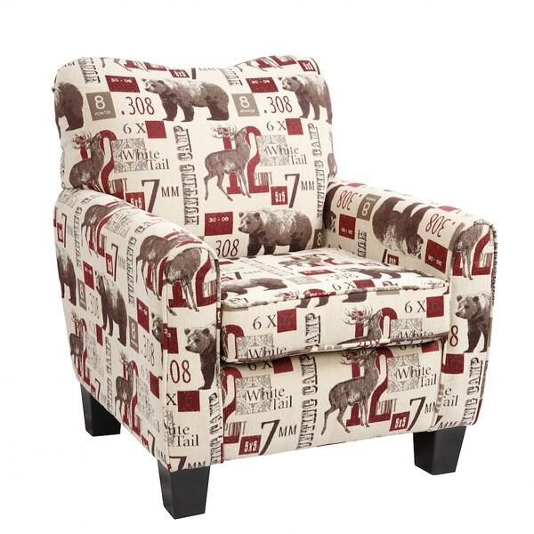 American Furniture Classics Caliber Hunting Camp Print Club Chair thumbnail