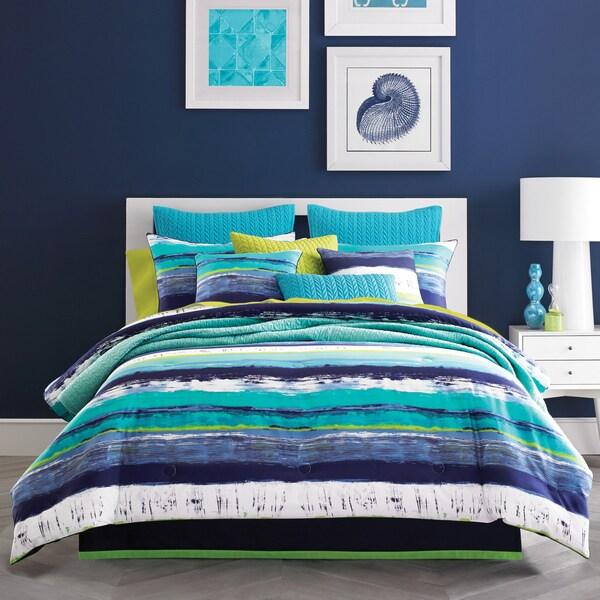 Five Queens Court Cameron Teal Cotton Comforter Set 24444567
