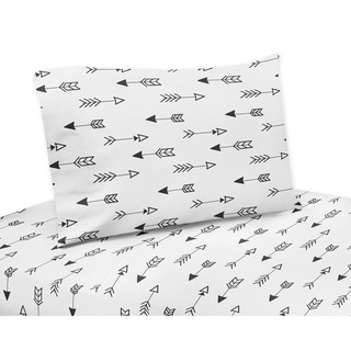 Black and White Fox Collection Twin and Queen Bed Sheet Sets by Sweet Jojo Designs
