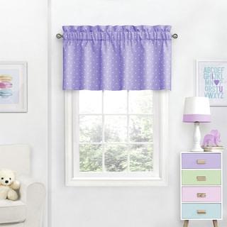 Eclipse Kids Dots Room-Darkening Curtain Valance - 42X18