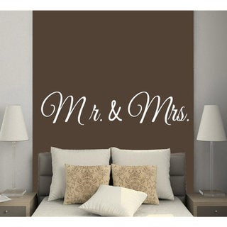 Quote Mr And Mrs Wife Husband Love Vinyl Stickers Home Art Mural Interior Decor Sticker Decal size 2 24480606