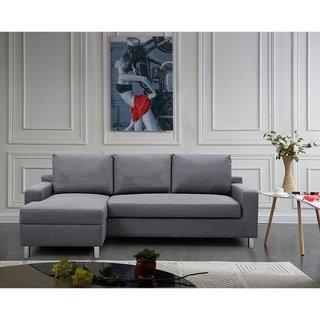 US Pride Furniture Hampton Left-side Facing Linen Sectional Sofa Bed