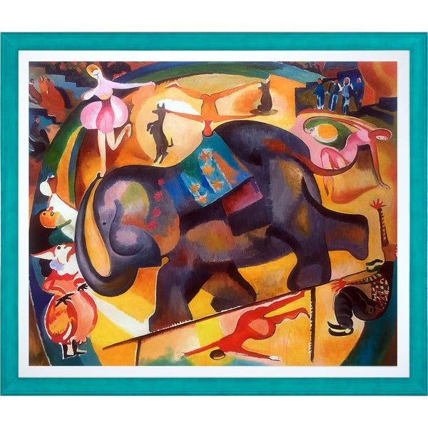 Alice Bailly 'The Elephant' Hand Painted Framed Oil Reproduction on Canvas 24494534
