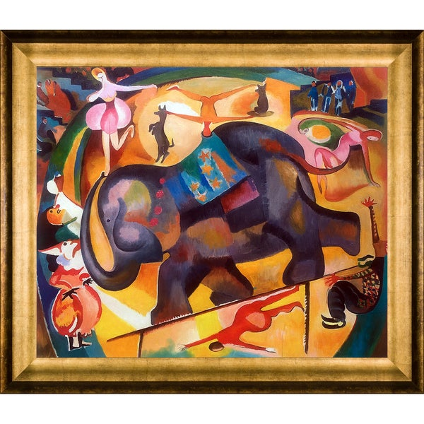 Alice Bailly 'The Elephant' Hand Painted Framed Oil Reproduction on Canvas 24494535