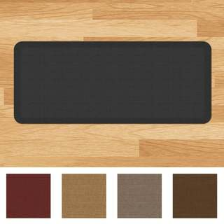 Designer Comfort Grasscloth Anti-fatigue Kitchen Mat