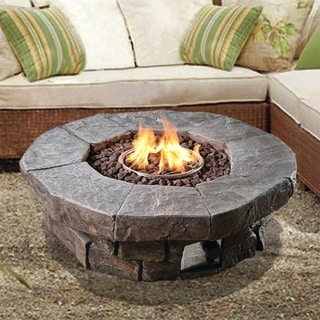 Peaktop Round Propane Gas Outdoor Fire Pit