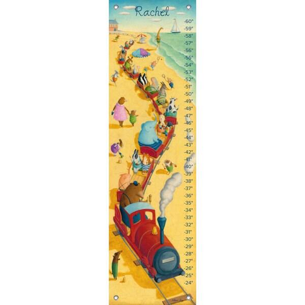 Oopsy Daisy Seaside Train Ride Canvas Growth Charts 24536238