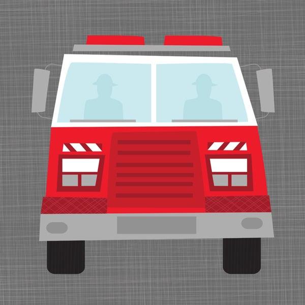 Oopsy Daisy Fire Truck Ways to Wheel Canvas Wall Art
