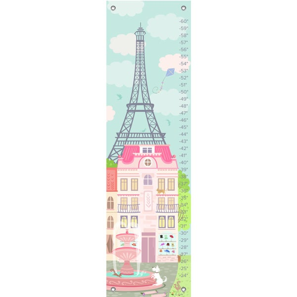 Oopsy Daisy Parisian Afternoon Canvas Growth Chart 24539544