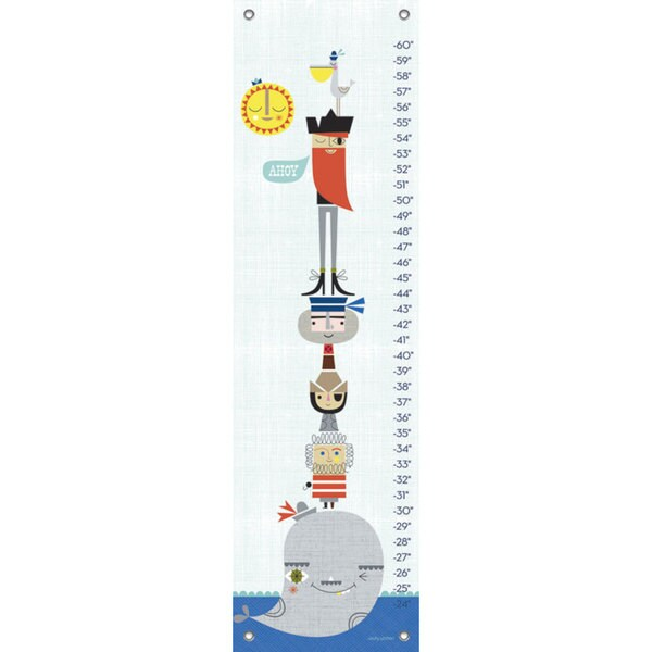 Oopsy Daisy Redbeard and Crew Canvas Growth Charts 24539724