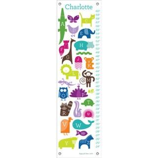 Oopsy Daisy Rainbow ABC Animalia Canvas Growth Charts 24541436